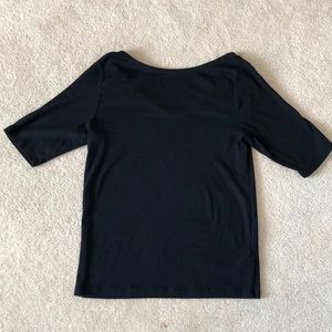 Gap boat neck with scoop back tee